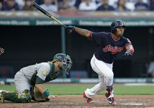 A's pitching roughed up in blowout loss to Indians