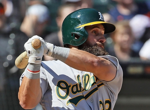 A's call up outfielder in the midst of crazy on-base streak