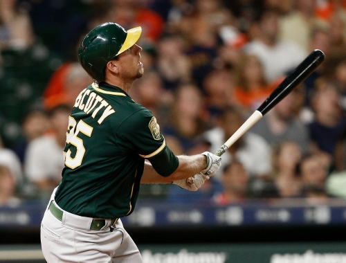 Stephen Piscotty's third straight game with homer difference in win vs Astros