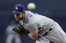 Clayton Kershaw pitches six scoreless innings as Dodgers beat Padres