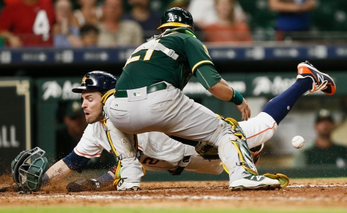 Bizarre ending spoils A's late comeback in loss to Astros