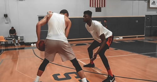 Video: Joel Embiid, Jayson Tatum, and Mo Bamba rotate playing 1-on-1