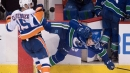 Canucks' Brock Boeser reflects on scary injury that ended rookie season