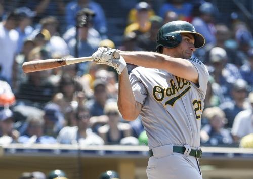 Matt Olson's back issue puts streak in jeopardy; Phegley's improvement
