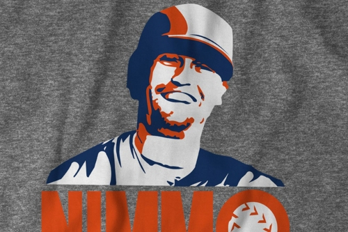 The very happy Brandon Nimmo on a t-shirt!