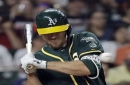 A's dodge bullet with Stephen Piscotty; Dustin Fowler gets a break
