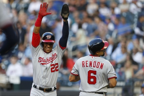 Washington Nationals' lineup for 2nd of 4 with New York Mets in Citi Field...