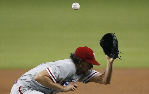 Slow start by All-Star Nola as Phillies lose to Marlins 2-0
