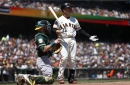 Giants end first half with 6-2 loss to Athletics