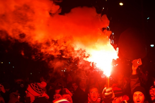 Travelling Toronto FC fans cause fire in TD Place Stadium