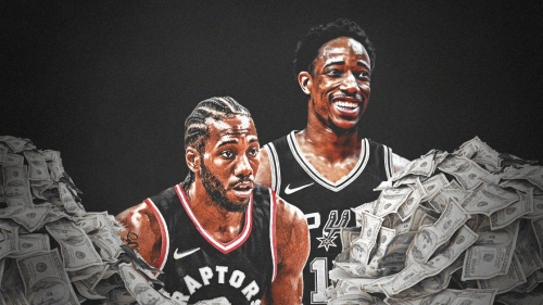 Spurs sending Raptors $5 million in Kawhi Leonard-DeMar DeRozan trade
