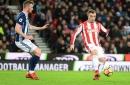 Stoke City's Charlie Adam slams Xherdan Shaqiri