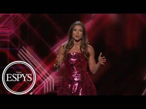Danica Patrick takes dig at Cleveland, J.R. Smith in ESPYs opening monologue
