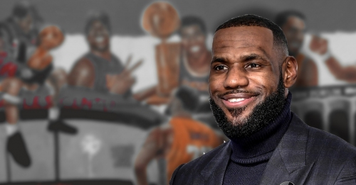 New mural in Los Angeles features LeBron James, other Lakers legends