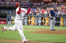 First-place Phillies start 2nd half with comeback win