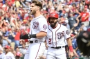 Nationals beat the Braves, 6-2, in rain-soaked nation's capital...