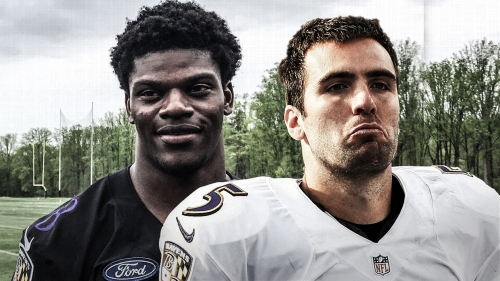Ravens QB Joe Flacco calls Lamar Jackson a 'heck of an athlete'
