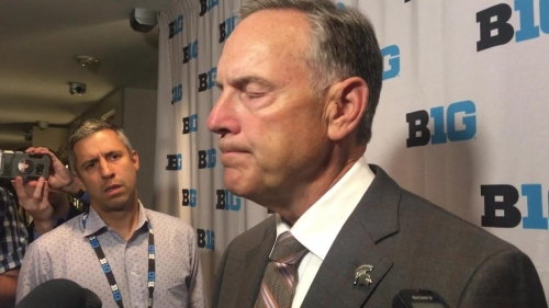 Michigan State football coach Mark Dantonio talks Jon Reschke, upcoming season