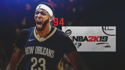 Anthony Davis rated 94 in NBA 2K19