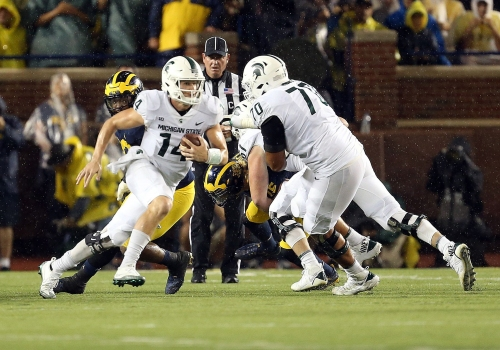 Like Michigan State football, QB Brian Lewerke has lofty goals