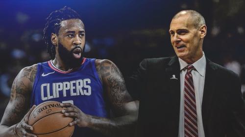 DeAndre Jordan greets new coach Rick Carlisle
