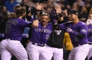 Rockies' Charlie Blackmon hits first career walk-off home run to defeat reigning world champions at Coors Field