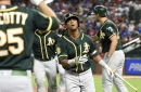 A's mess with Texas, come back late again in amazing fashion