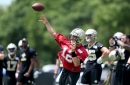 Tom Savage exits early from an otherwise healthy first day of Saints training camp