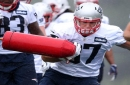 Gronk happy to hit field as contract situation simmers