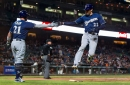 Brewers use small ball, pitching to best Giants 3-1