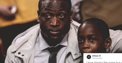 Heat legend Dwyane Wade calls watching his son the 'purest joy'