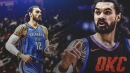 Thunder C Steven Adams details his first time embracing Spurs coach Gregg Popovich