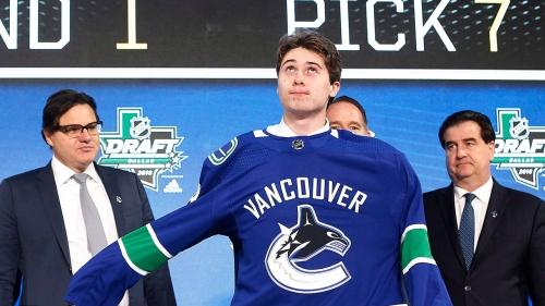 Quinn Hughes could still play in a Canucks jersey this season