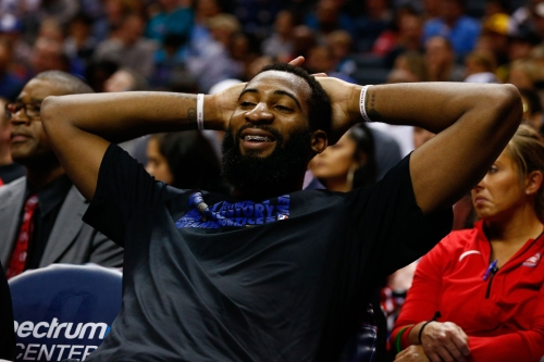 Detroit Pistons' Andre Drummond working on shooting 3s. Seriously