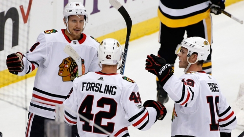 Blackhawks defenceman Gustav Forsling out with wrist injury