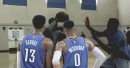 Russell Westbrook, Paul George get first look at new addition Dennis Schroder