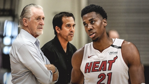 Hassan Whiteside says he had a 'great talk' with Pat Riley, Erik Spoelstra