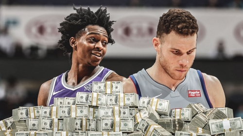 De'Aaron Fox reacts to Blake Griffin's child support bill