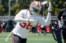 DeMeco Ryans training Reuben Foster on that new tackling technique