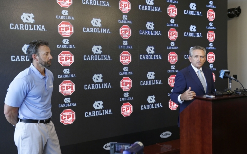 The Latest: UNC's Carney says he made 'a wrong decision'