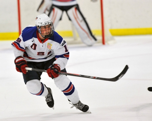 Dylan Larkin spearheads USA Hockey tribute game for J.J.