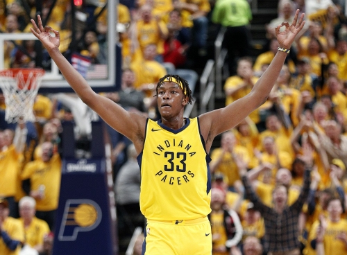 Myles Turner's yoga prowess continues to turn heads