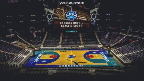 Hornets unveil retro court for 'Classic Night' games
