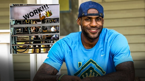 LeBron James puts in first workout in Lakers' new facility