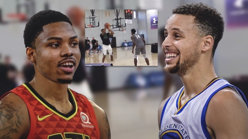 Video: Kent Bazemore knocks down 3-pointers from near half court at Stephen Curry's camp