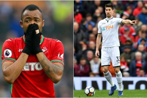 Swansea City defensive duo complete moves away as Jordan Ayew is loaned out to Crystal Palace