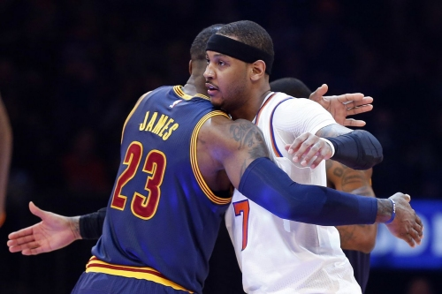 LeBron James congratulated Carmelo Anthony on his Hawks jersey