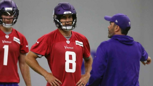 Vikings QB Kirk Cousins working on improving when the pocket breaks down