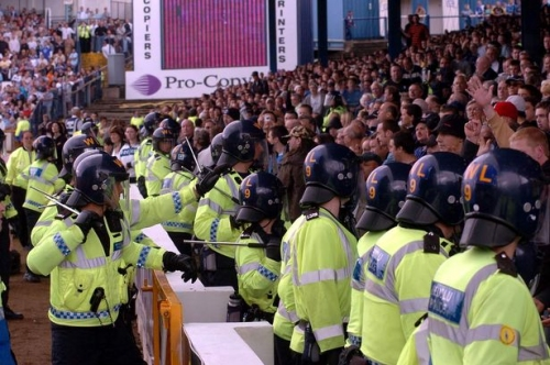 How many Aston Villa, Birmingham City, West Brom and Wolves fans got into trouble with police last season