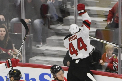 Devils Game Rewind: Miles Wood Drops a Hat Trick on the Hawks in a Wild Comeback in Chicago